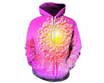 Tree Hoodie, Outdoor Hoodie, Tree Sweatshirt, Nature Hoodie, Art, Hoodie Art, Hoodie Pattern, Pattern Hoodie, Hoodie, 3d Hoodie - Style 2