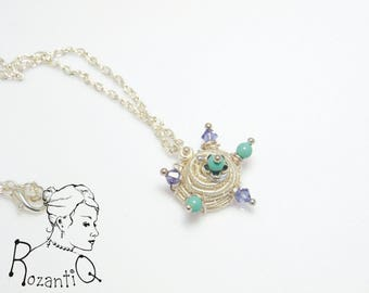 Spiky Wire, Pearls and Crystals Necklace