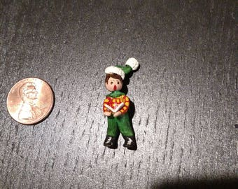 Dollhouse Christmas caroler