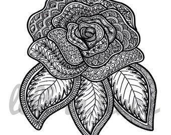 Patterned Rose