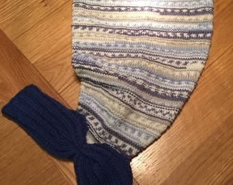 Hand knitted Baby Mermaid Tail