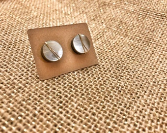 Handmade Gemstone Stud Earrings