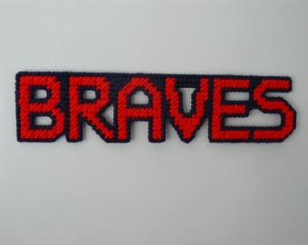 BRAVES in Handmade Needlepoint Sports Magnets