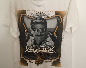 Distressed Dale Earnhardt 2010 nascar hall of fame tee
