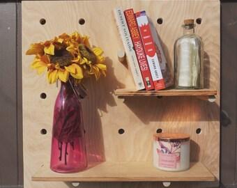 Pegboard shelf/ peg board display/ pegboard display