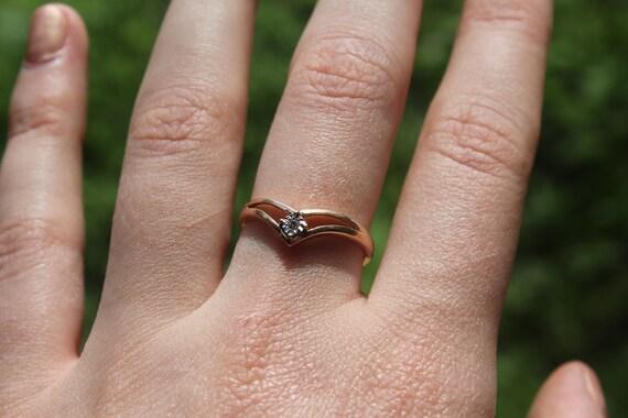 Prouds 9ct Rose Gold Diamond Ring