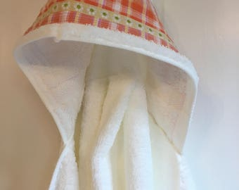 kids organic cotton hooded towel