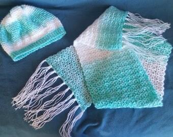 Hat & Scarf Set - Crochet
