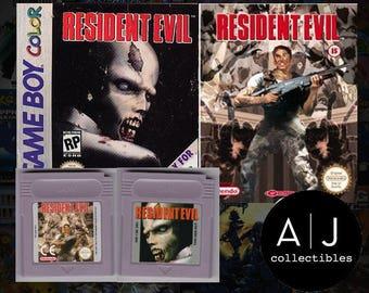 Resident Evil Nintendo Game boy gbc gba (Custom Fan Made) Gameboy