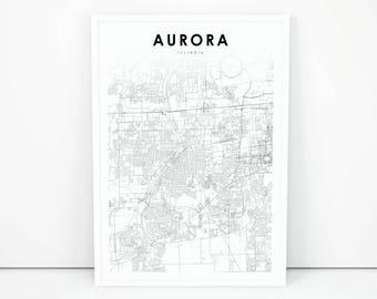 Aurora map Etsy