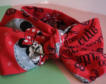 Pink Minnie Mouse Head Wrap