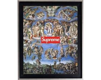 Supreme Michelangelo 'The Last Judgement' Poster or Art Print
