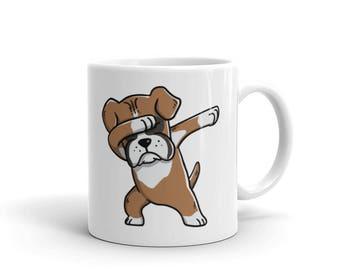 Cute Dabbing Boxer Mug Funny Dab Dance Dog Gift