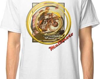 Inished ProductionsArt Deco inspired classic retro bespoke urban Motorcycle art T-Shirt Melimoto