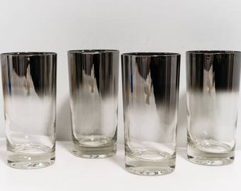 Dorothy Thorpe Silver Fade Highball Glasses!