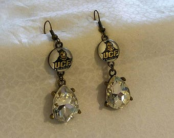University of Central Florida Game Day Rhinestone Drop Knights Earrings UCF Earrings