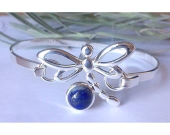 Stunning lapis lazuli dragonfly bangle
