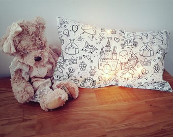 Nightlight coloring pillow