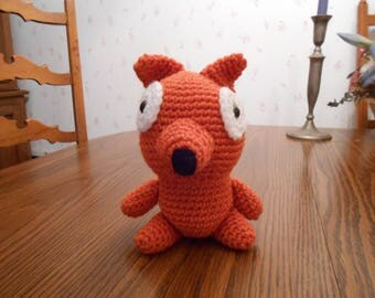New HANDMADE Crocheted Fox