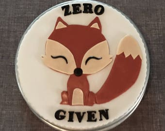 Fondant Fox cake topper READY TO SHIP