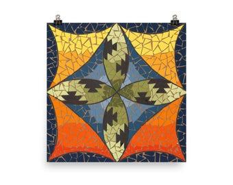 San Felipe Mosaic - Beautiful Archival Cotton Rag Fine Art Giclée Print Supporting the Nonprofit Fresh Artists