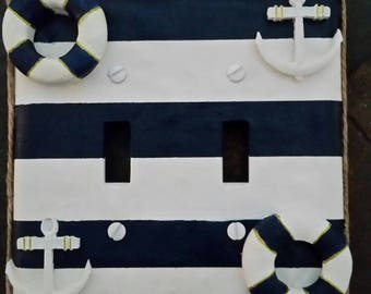 Nautical Light switch Covers - Double Switch