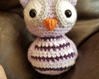 Adorable crochet owl plush