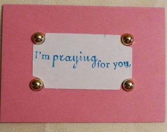 """I'm Praying For You Greeting Note Cards, 3.25""""x4.5"""", Made in the USA, #9"""