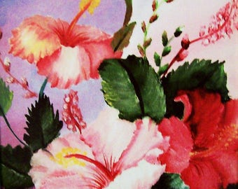 Oil Painting Print, 8.5x11 Print, Glicee Print, A Floral Bouquet print, Made in the USA, #78