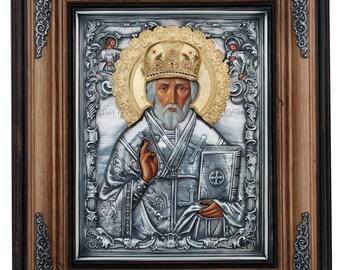 Russian icon Saint Nicholas