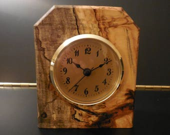 0175 SPALTED MAPLE CLOCK