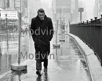 James Dean walking on a bridge black and White, Heart Throb