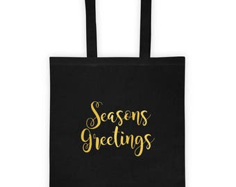 Seasons Greetings Christmas Holiday Tote bag
