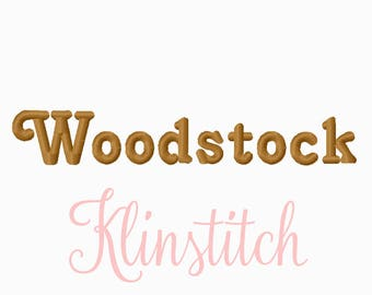 50% Sale!! Wood Stock Embroidery Fonts 2 Sizes Fonts BX Fonts Embroidery Designs PES Fonts Alphabets - Instant Download