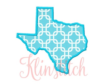 50% Sale!! Texas State Applique Designs 9 Sizes Embroidery Designs USA State Outline Embroidery PES Embroidery Designs
