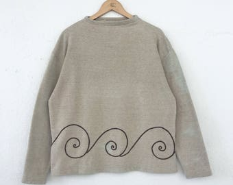 Vintage HAI SPORTING GEAR Sweatshirt Issey Miyake Jumper Plain Size M