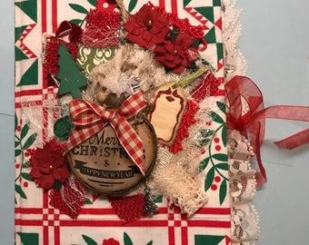 Christmas junk journal,  december daily, journal