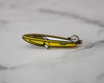 Yellow Boat Pin
