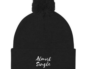 Almost Single Pom Pom Knit Cap