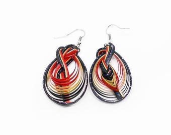 Handcrafted Earrings Bamboo Weave Fashion Hook Earrings ER-023