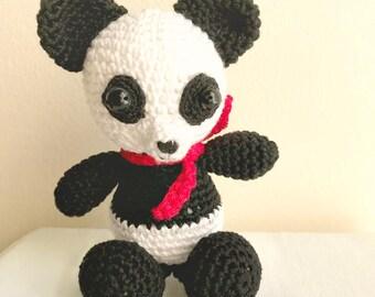 Crochet panda, Amigurumi panda, Panda bear, Panda toy, Crochet animal, Crochet bear, Crochet panda bear, Nursery amigurumi