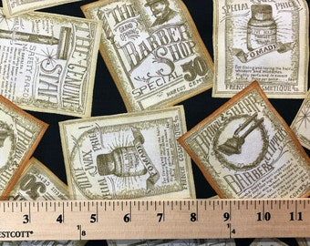 A Close Shave, Quilting Treasures,  Charlene Audrey, Quilting Fabric, Mens Fabric