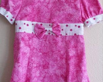Pink Poke-a-dot dress
