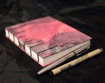 Coptic Bound Sketchbook or Journal - Red and Black
