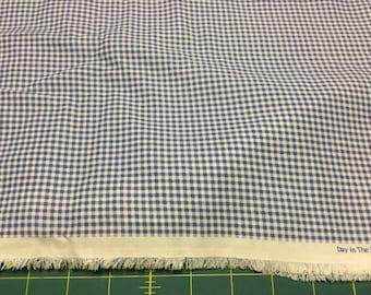 "Blue Gingham fabric 1/8""    BTY"