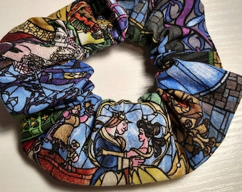 Disney Scrunchies! Handmade hair ties. Mickey Mouse, Minnie Mouse, Beauty and the Beast, Star Wars. 80s, 90s