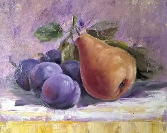 Plums with pear