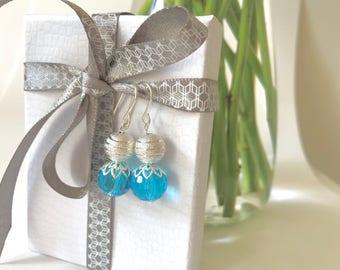 Frozen Earrings Blue