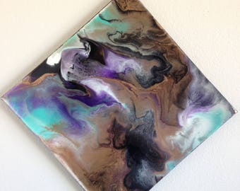Midnight Musings- Abstract Resin Painting