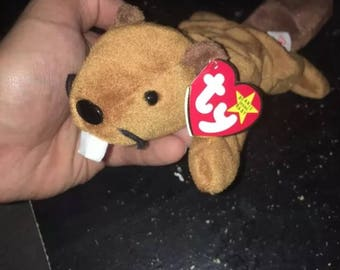 "Very Rare 1995 ""Bucky"" Beanie Baby With Many Errors Including PVC Pellets!"